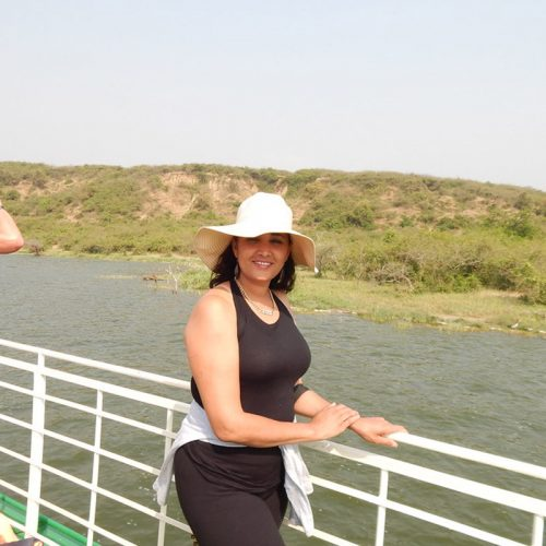 boat cruise at kazinga channel - boat la