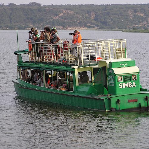 boat safari on kazinga channel - boat launch at murchison falls